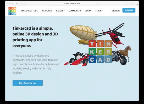 Tinkercad Website