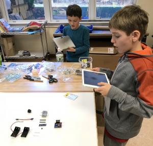 LGA Students Spin Bot Parts