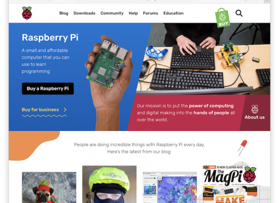 Raspberry Pi Website