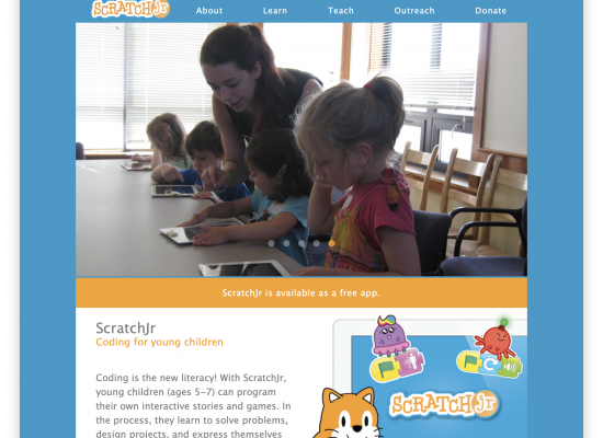 Scratch Jr web site
