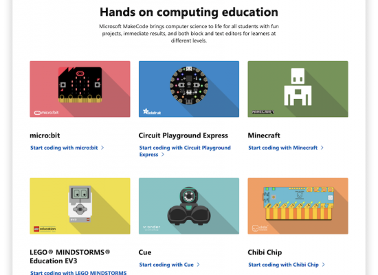 MS MakeCode Site