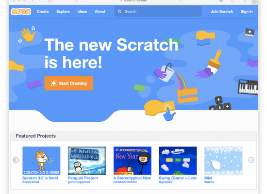 Scratch 3.0 website