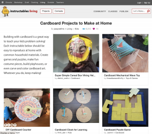 Cardboard Projects Web Page