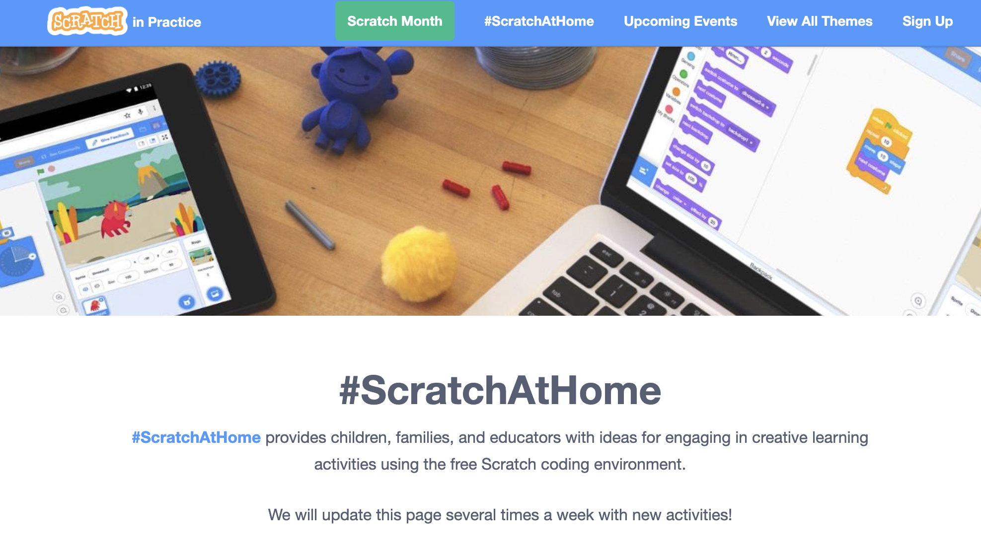 Scratch @ Home Page