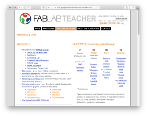 Fablab Teacher Studio Website