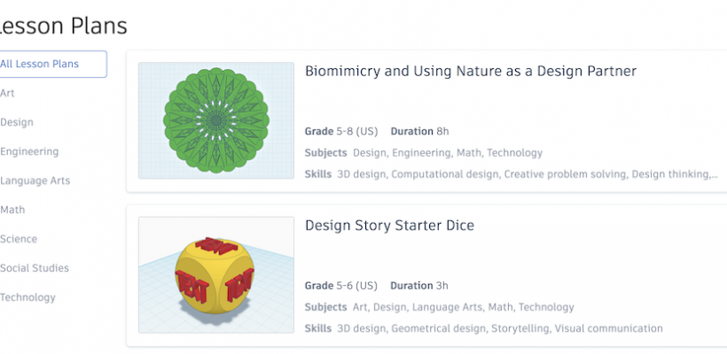 Tinkercad Lessons